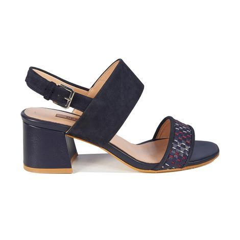 Juniper Örgülü Kadın Deri Topuklu Sandalet 2010042893006