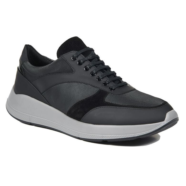 Siyah Chester Erkek Deri Sneaker Erkek Spor Ayakkabı Desa