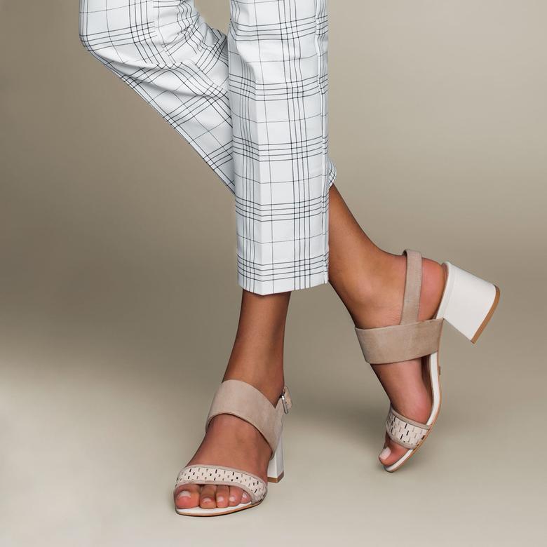 Juniper Örgülü Kadın Deri Topuklu Sandalet 2010042893004