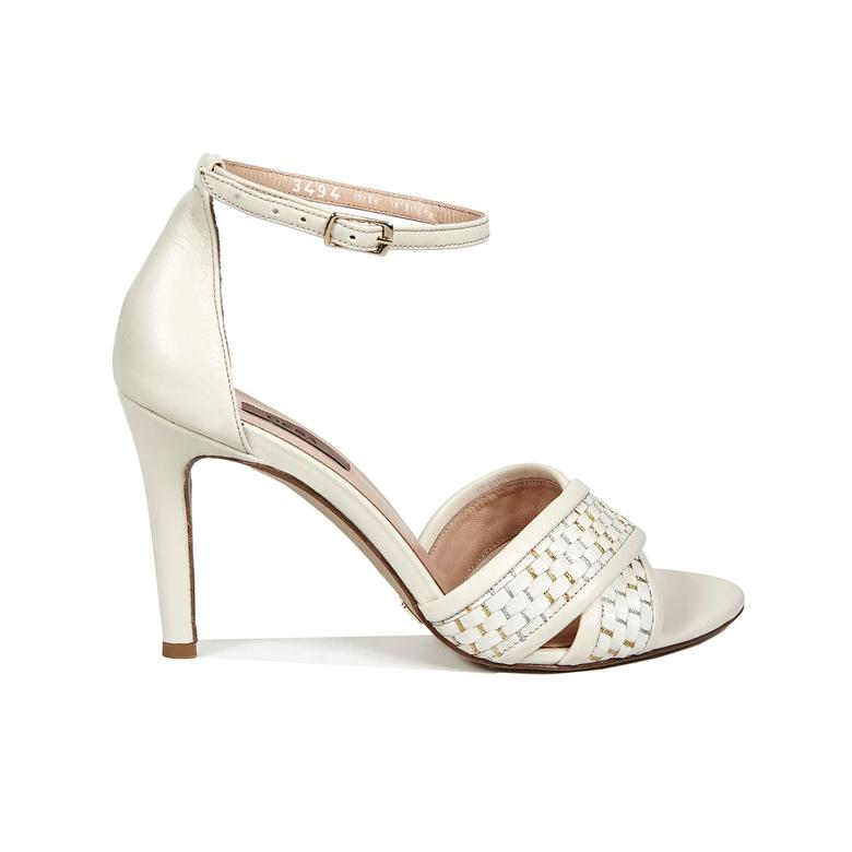 Trudy Örgülü Kadın Deri Topuklu Sandalet 2010042895005