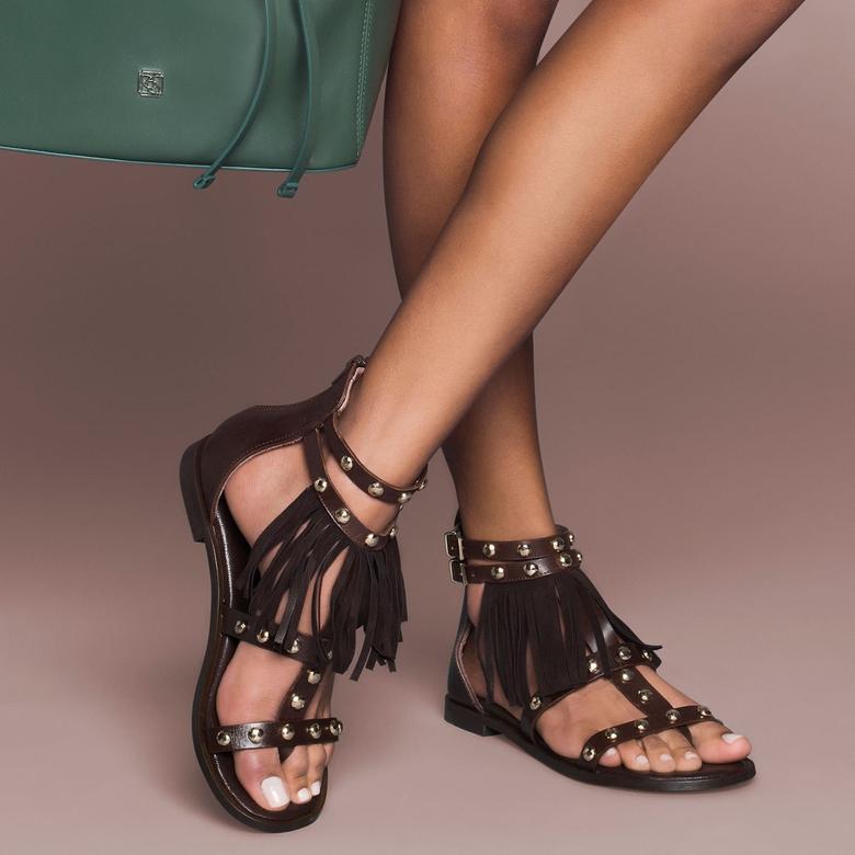 Kirby Kadın Deri Sandalet