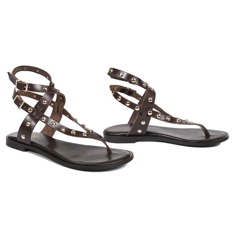 Alva Kadın Deri Sandalet 2010042853006