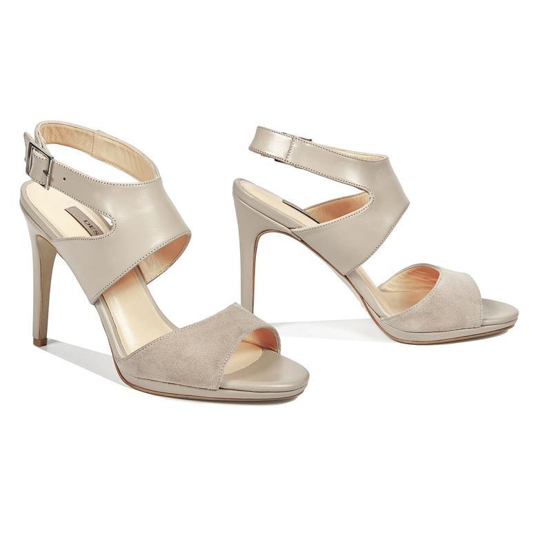Miko Kadın Deri Topuklu Sandalet 2010042946006