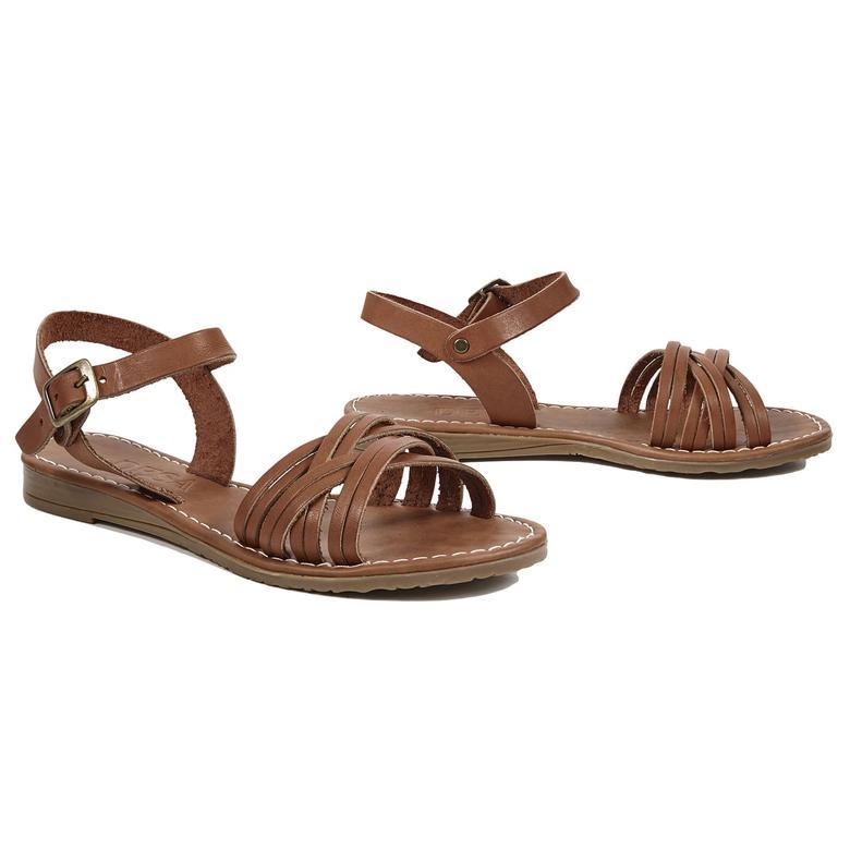 Sia Kadın Deri Sandalet 2010042533006