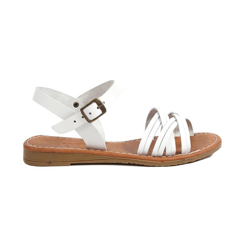 Sia Kadın Deri Sandalet 2010042533011