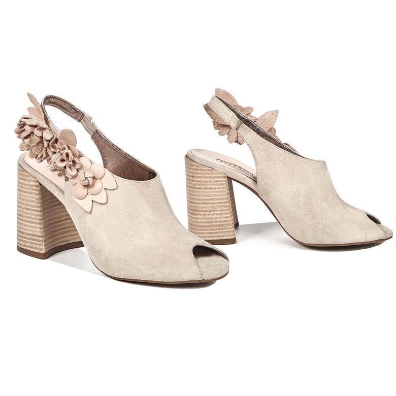 Khloe Kadın Deri Bootie Sandalet 2010042553006