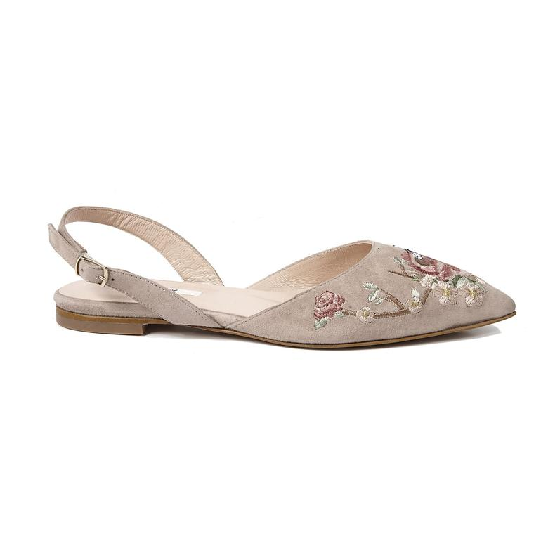Fleur Kadın Süet Sandalet 2010042636006