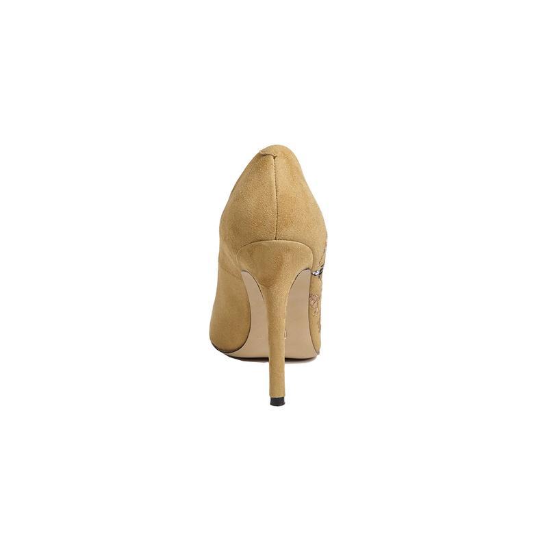 Nakışlı Mina Kadın Süet Stiletto 2010042639008