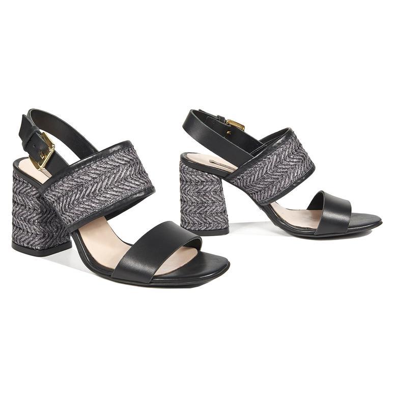 Cassandra Kadın Deri Topuklu Sandalet