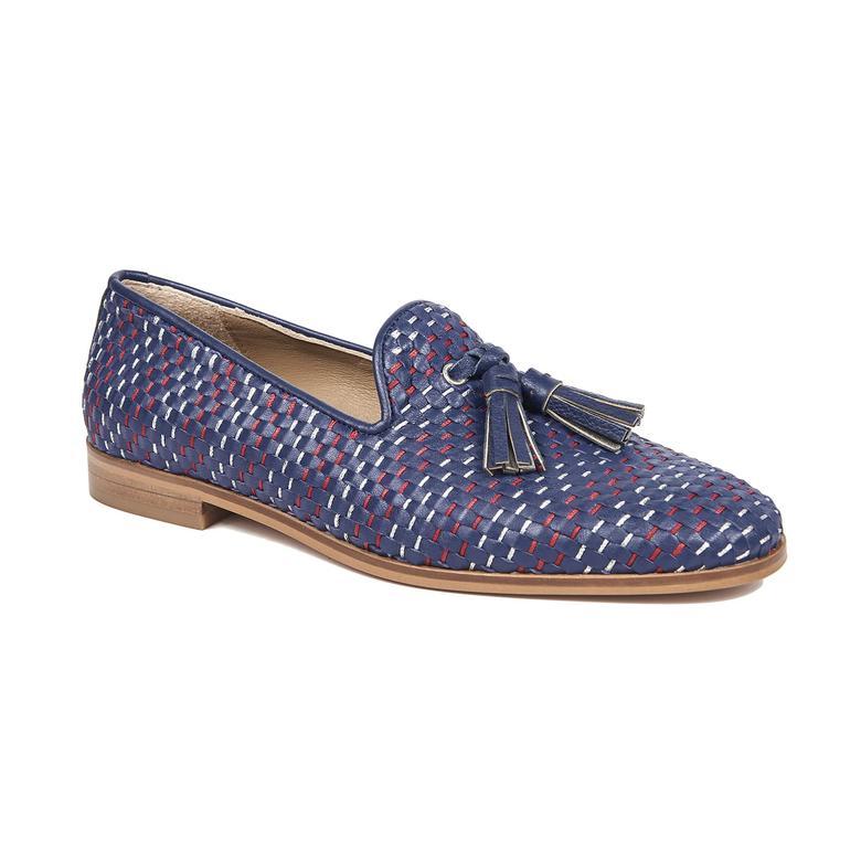 Dahlia Örgülü Kadın Deri Günlük Ayakkabı 2010042741001