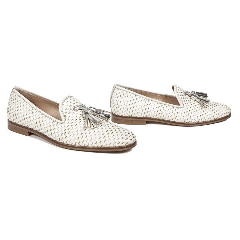 Dahlia Örgülü Kadın Deri Günlük Ayakkabı 2010042741007