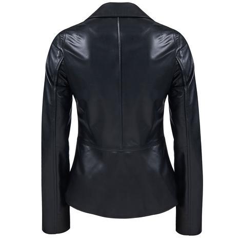 Delcine Kadın Deri Biker Ceket 1010026449007
