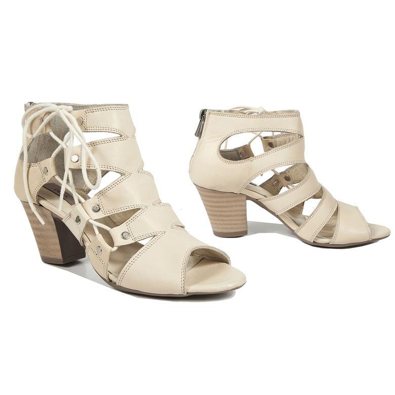 Nil Kadın Deri Bootie Sandalet 2010040693014