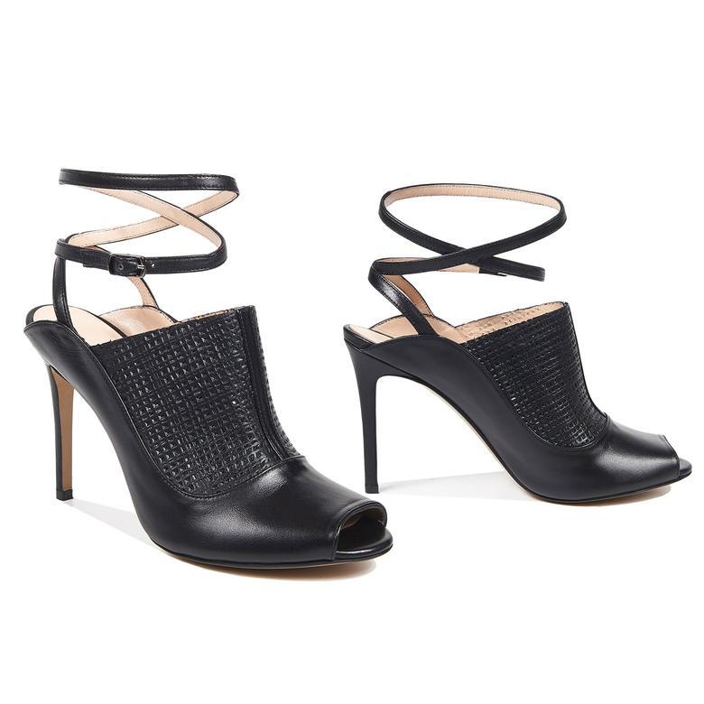 1972 Elaine Kadın Deri Sandalet 2010043196003
