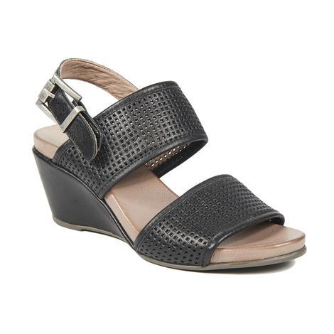 Kendall Deri Kadın Dolgu Topuklu Sandalet 2010043201002