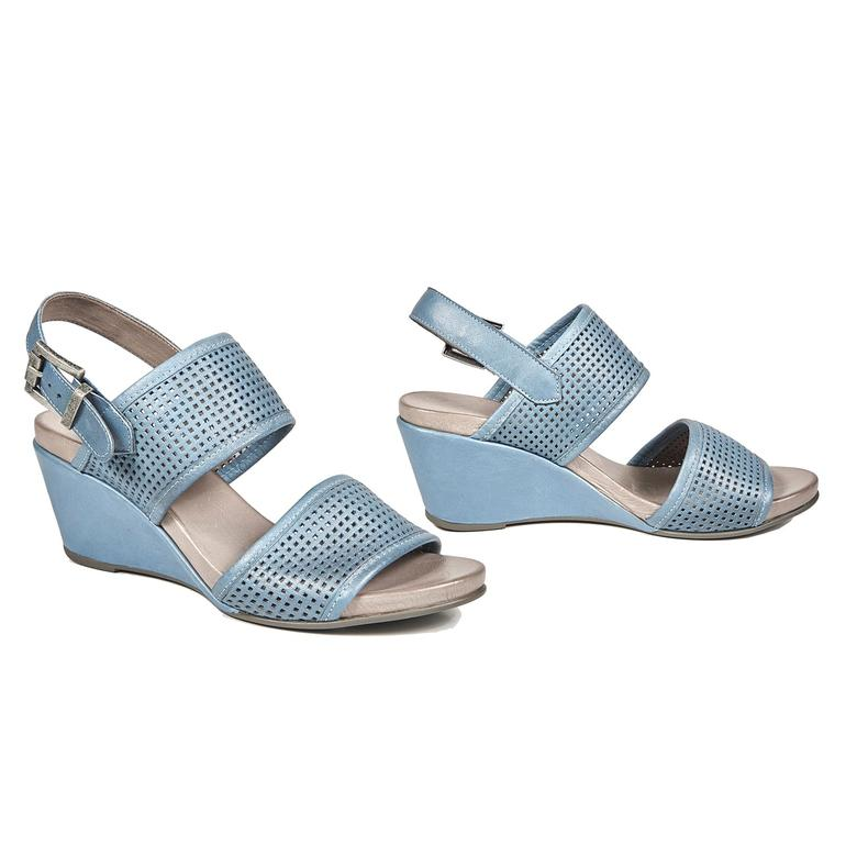 Kendall Deri Kadın Dolgu Topuklu Sandalet 2010043201013