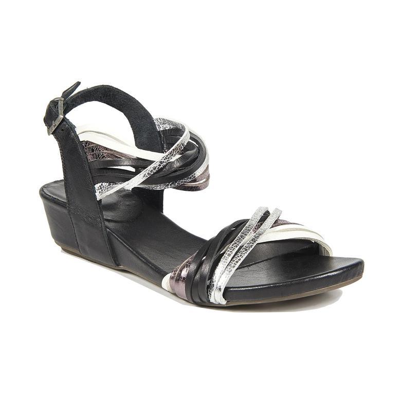 Araceli Kadın Dolgu Topuklu Deri Sandalet 2010043204003