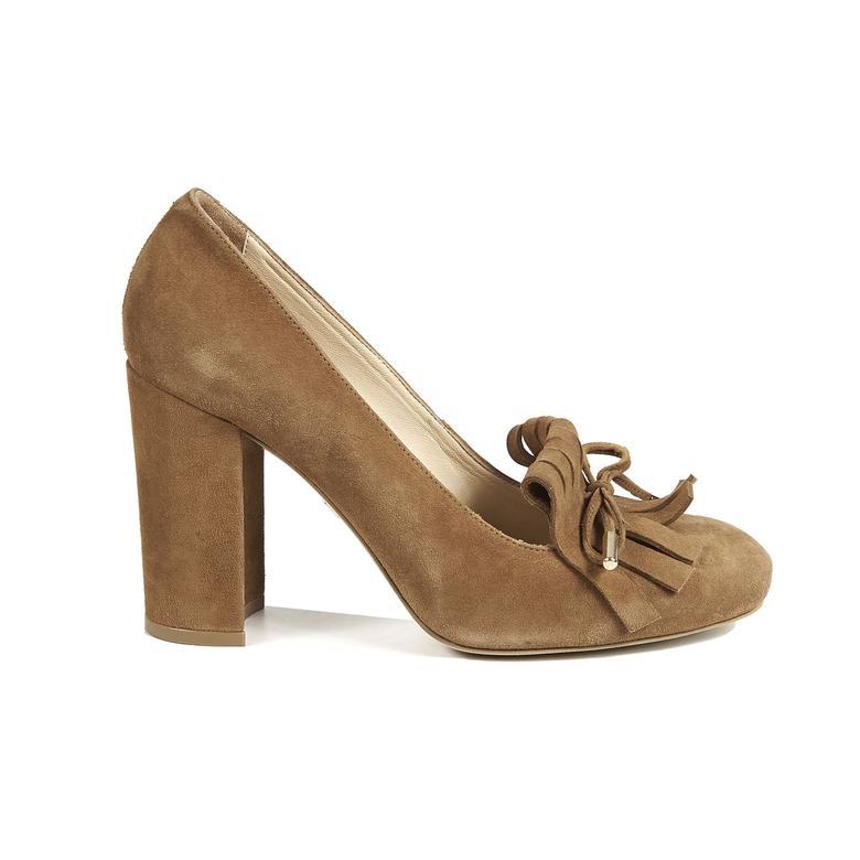 Kadın Klasik Süet Topuklu Ayakkabı 2010040127007