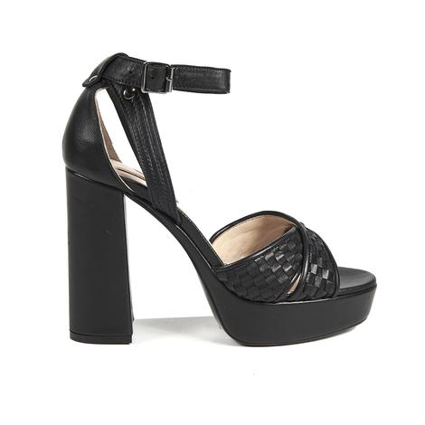 Örgü Desenli Kadın Topuklu Sandalet 2010041426004