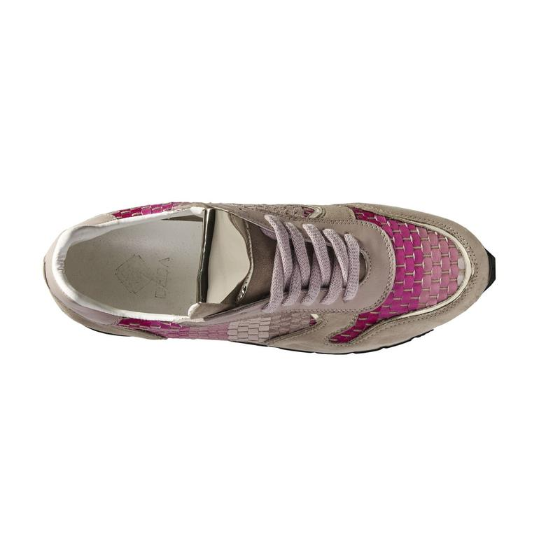 Hale Örgülü Deri Kadın Spor Ayakkabı 2010040855011