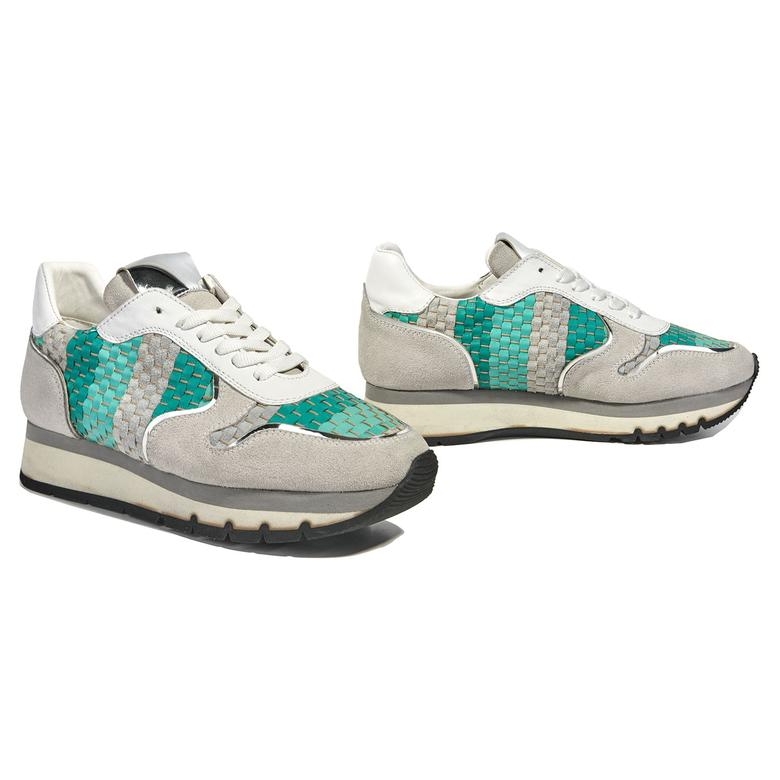 Hale Kadın Örgülü Deri Spor Ayakkabı 2010040855001