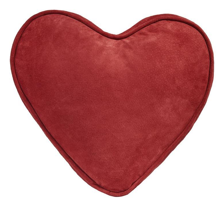 Süet Kırmızı Kalp Yastık 1010022709001