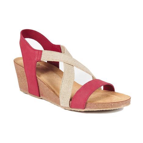Fiona Kadın Dolgu Topuklu Deri Sandalet 2010042959015