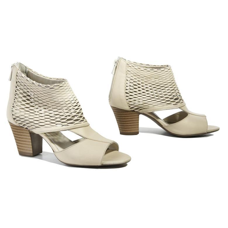 Malon Kadın Deri Bootie Sandalet 2010040691014
