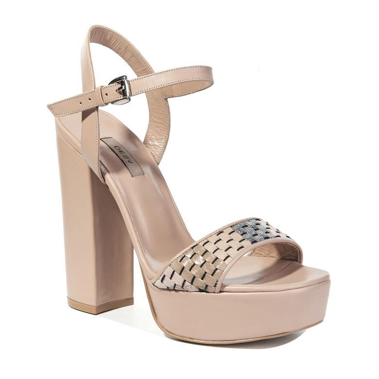 Salsa Örgü Desenli Kadın Sandalet 2010040931009