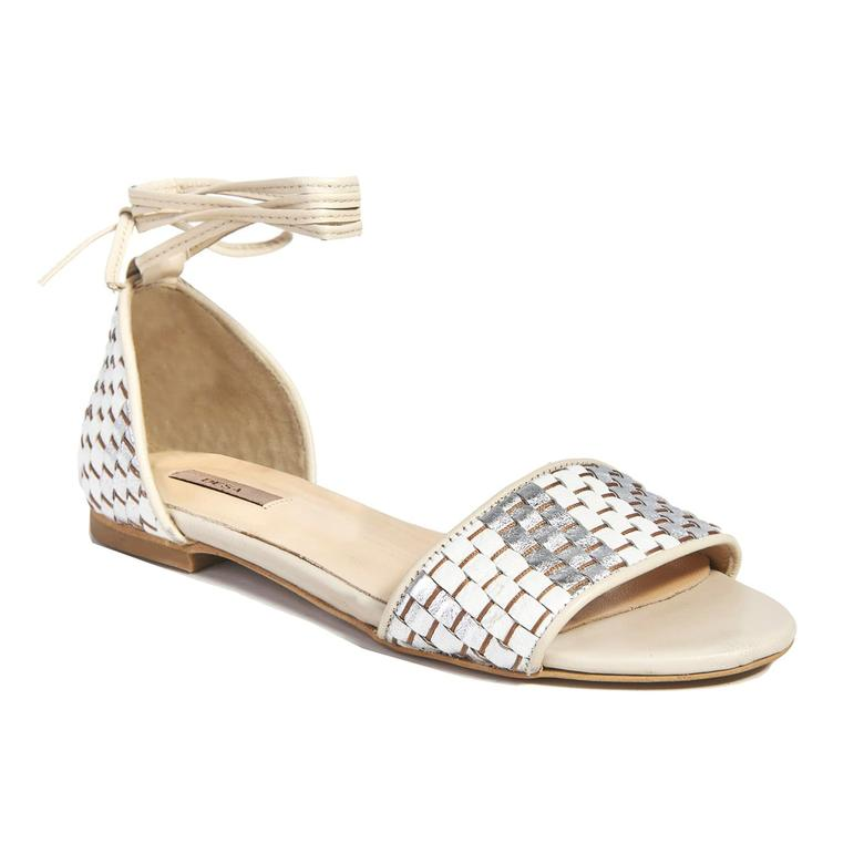 Örgü Desenli Kadın Sandalet 2010041441006