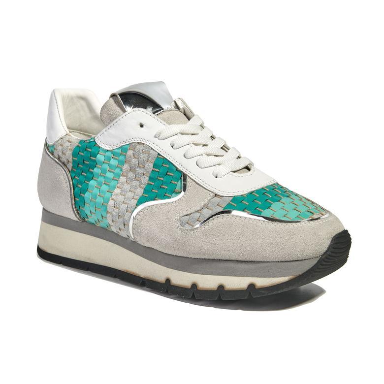 Hale Örgülü Deri Kadın Spor Ayakkabı 2010040855001
