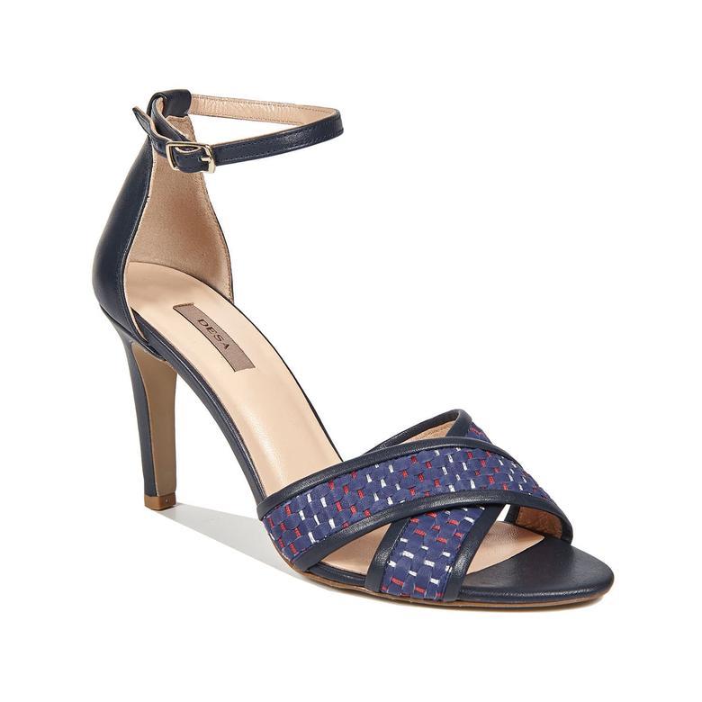 Trudy Örgülü Kadın Deri Topuklu Sandalet