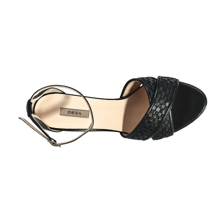 Siena Örgü Desenli Kadın Topuklu Sandalet 2010040919002