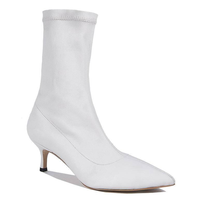 Osille Kadın Topuklu Beyaz Bot 2010043622007