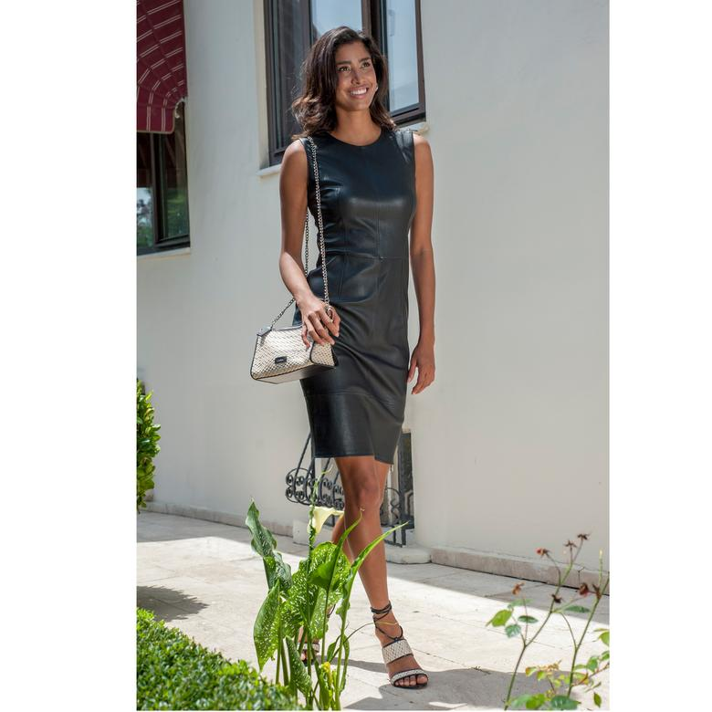 Suelita Kadın Deri Elbise 1010026364005