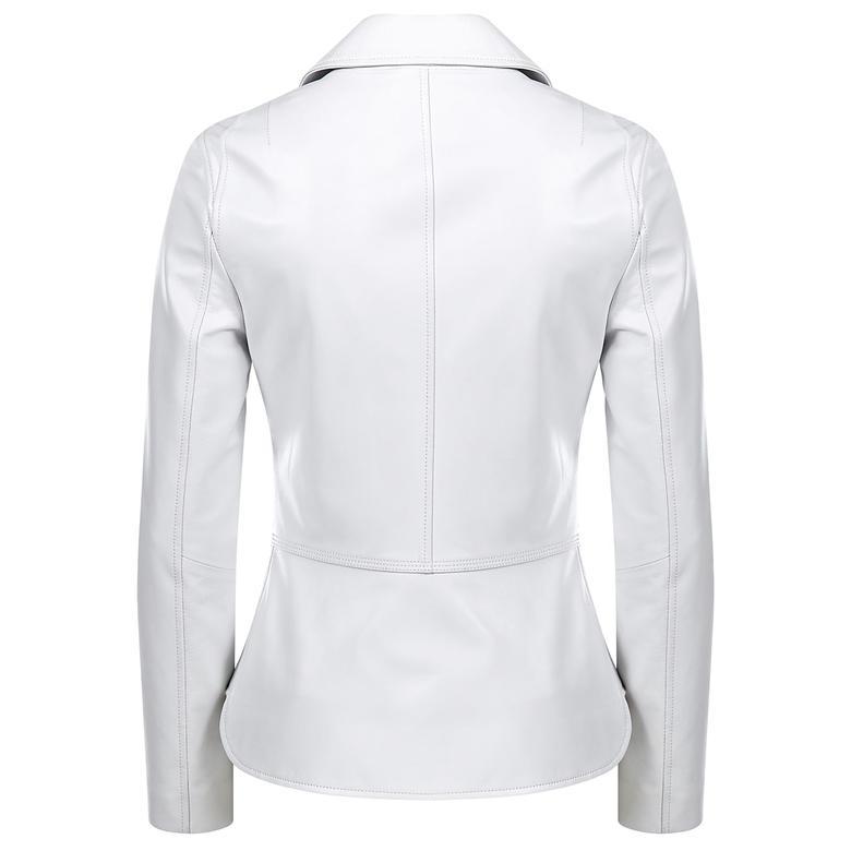Delcine Kadın Deri Biker Ceket