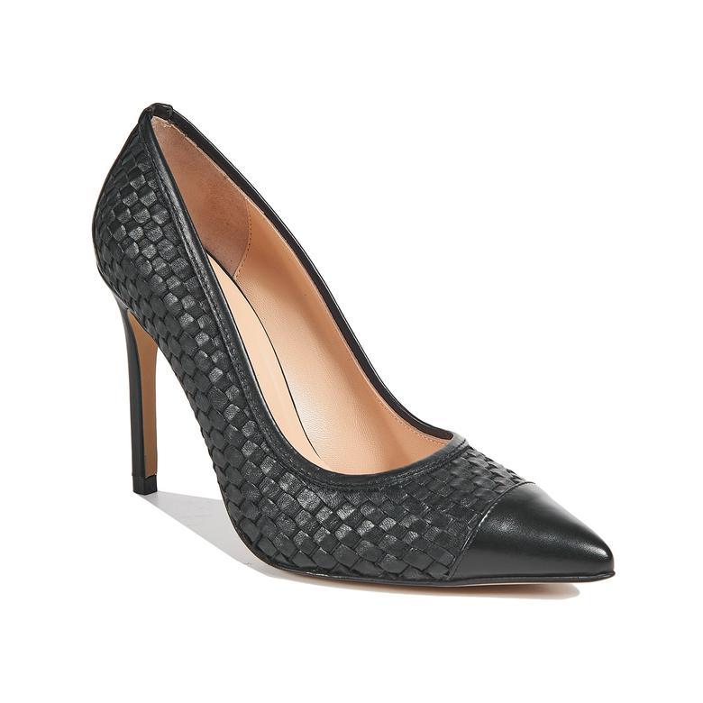 Tamarin Kadın Örgülü Klasik Deri Ayakkabı 2010043578002