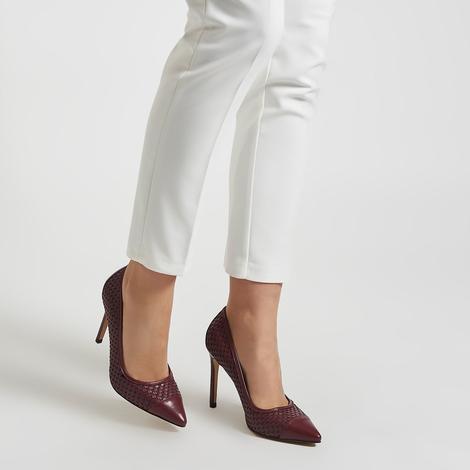 Tamarin Kadın Örgülü Klasik Deri Ayakkabı 2010043578009