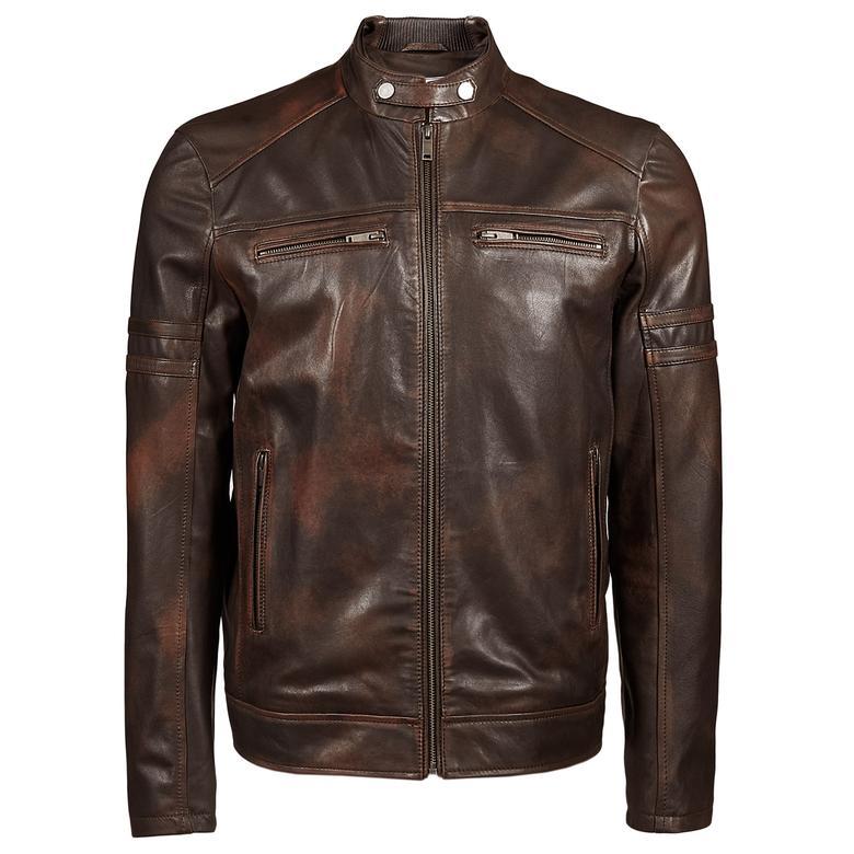Eneas Erkek Vintage Deri Mont 1010027324004