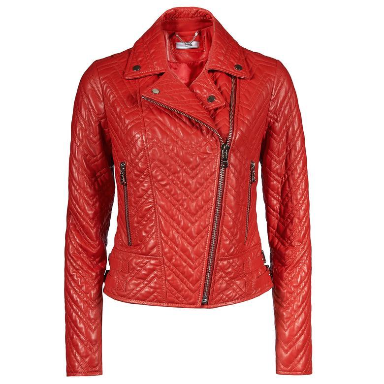 Riccarda Kadın Deri Biker Mont 1010027697001