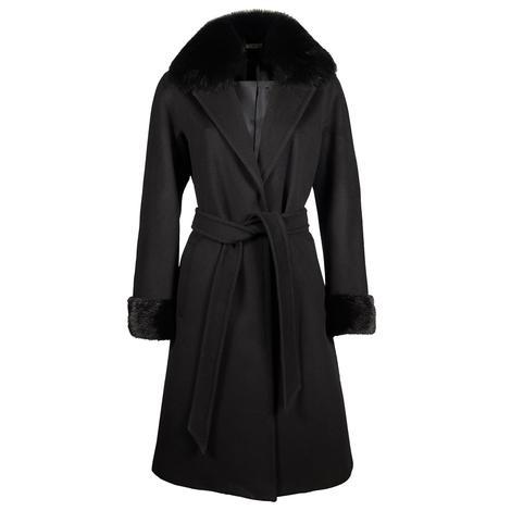 Rhea Kürk Yakalı Yün Palto 1010027336001