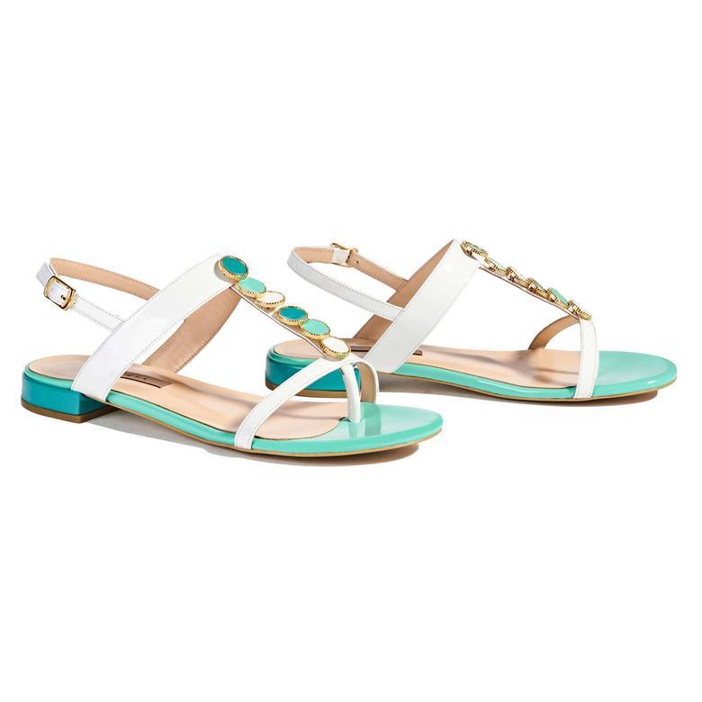 Fenoni Kadın Rugan Sandalet 2010037851008