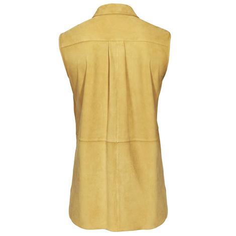 Sarı Suma Kadın Kolsuz Süet Gömlek 1010022398010