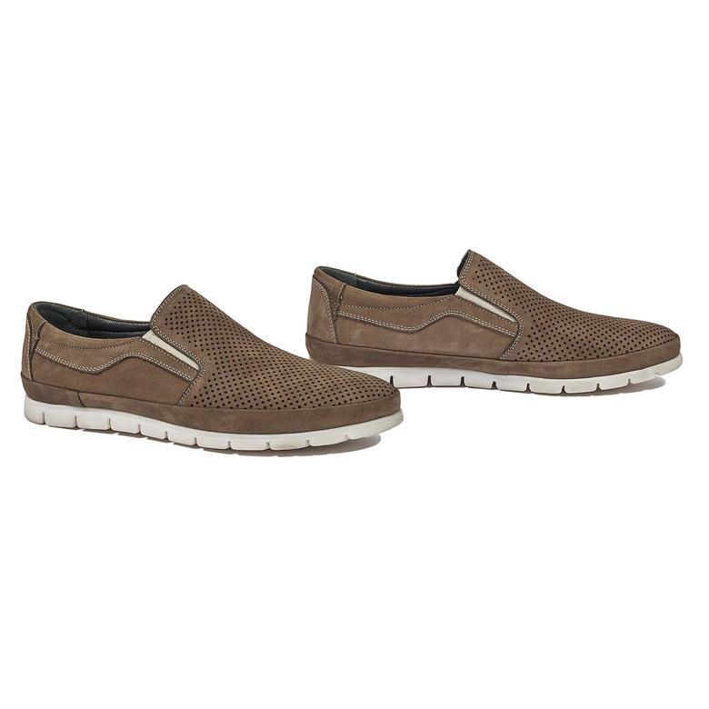 Teddeo Erkek Nubuk Deri Günlük Ayakkabı 2010044276017