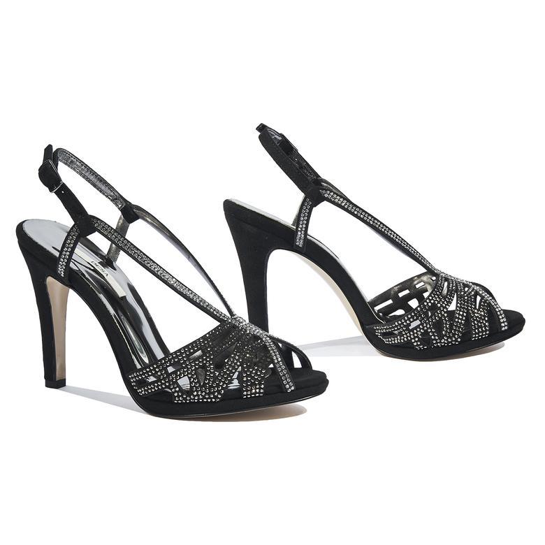 Siyah Lizette Kadın Abiye Ayakkabı 2010044382003