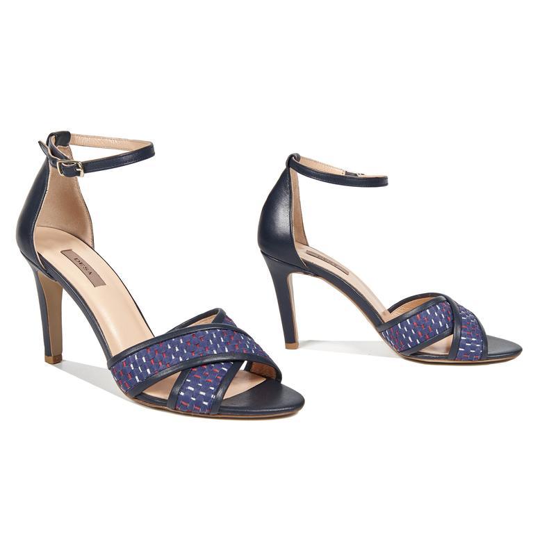 Trudy Örgülü Kadın Deri Topuklu Sandalet 2010042895006