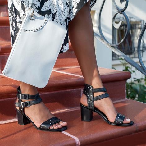 Haylee Kadın Deri Topuklu Sandalet 2010042951005