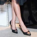 Nakışlı Mina Kadın Süet Stiletto 2010042639004