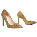 Nakışlı Mina Kadın Süet Stiletto 2010042639007