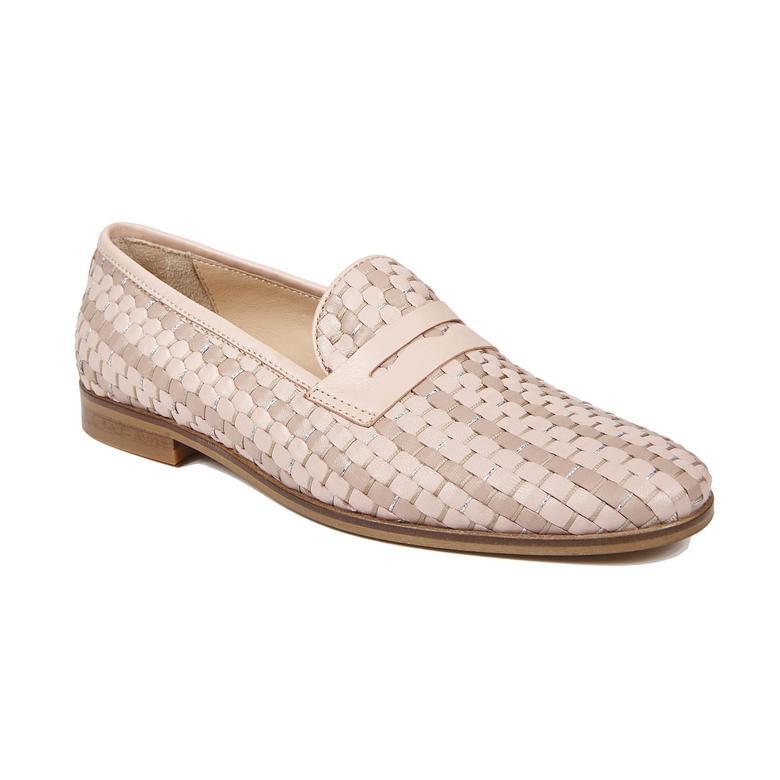 Clover Örgülü Kadın Deri Günlük Ayakkabı 2010042740003